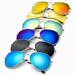 Retro Sunglasses Mirrored Flat Lens UV Protection